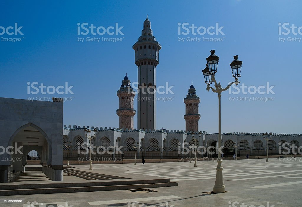 Touba Mosque, center Mouridism Cheikh Amadou Bamba burial place, Senegal stock photo