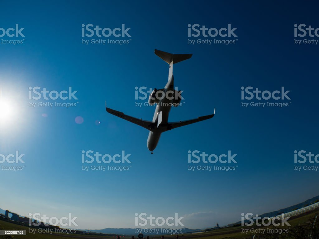 Touch Down stock photo