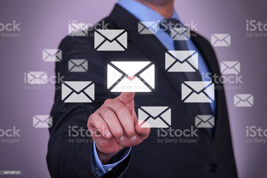 Touch Email stock photo