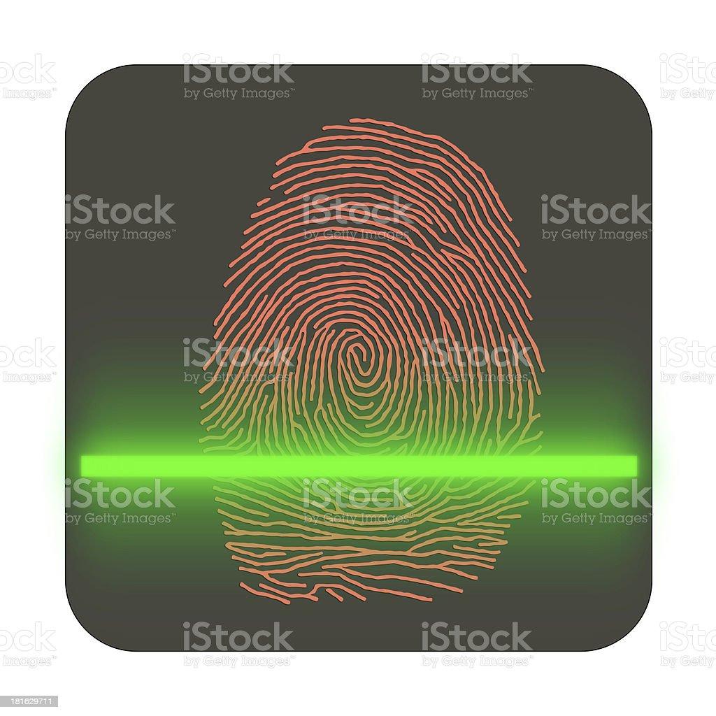 Touch, ID, Fingerprint scan Access Symbol stock photo