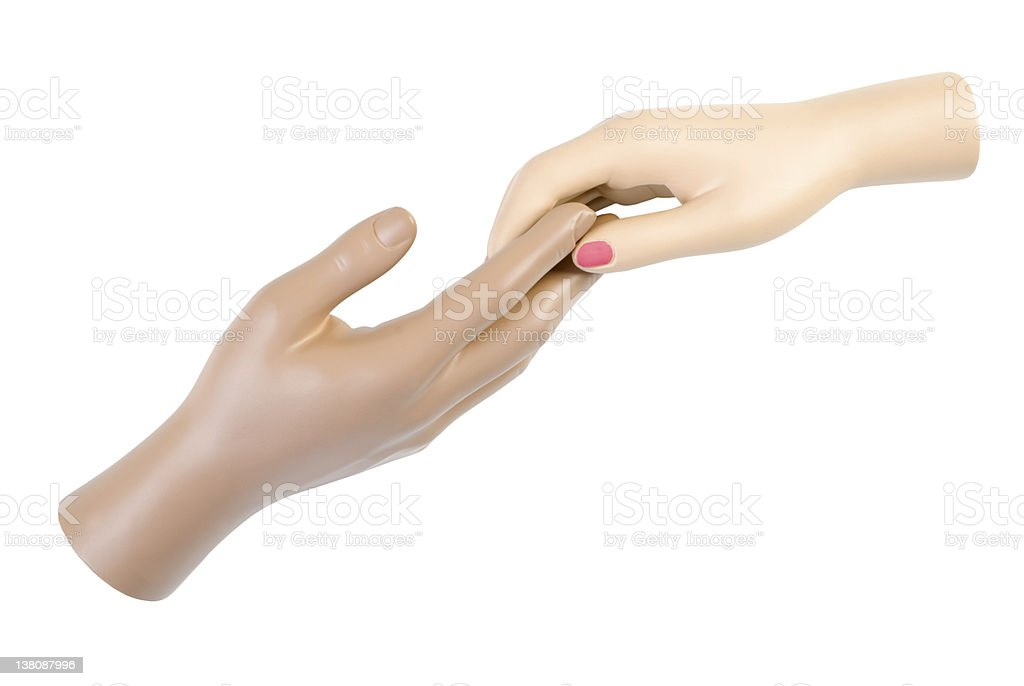 Touch of hands | Isolated stock photo