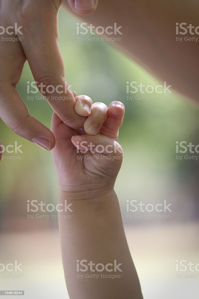 Touch of love royalty-free stock photo