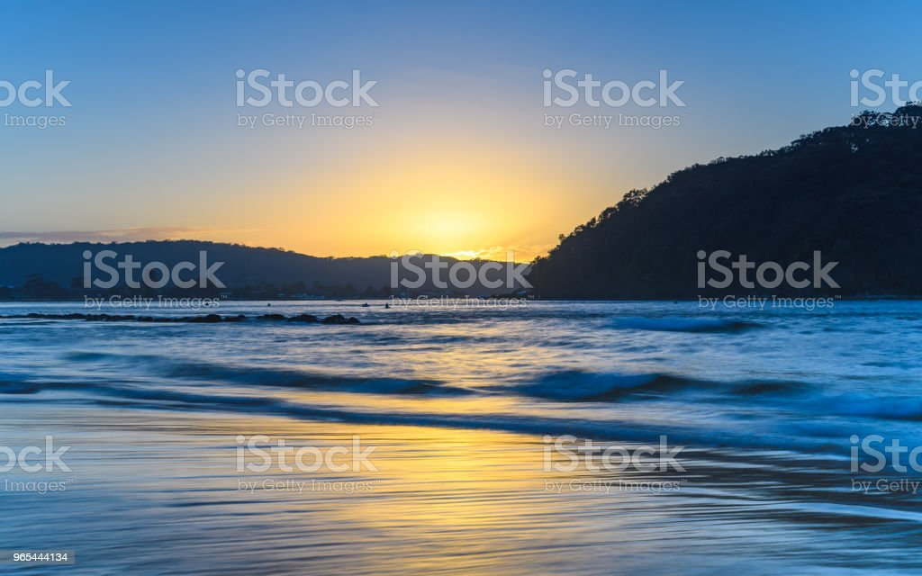 A Touch of Yellow - Sunrise Seascape royalty-free stock photo