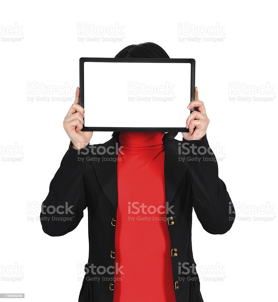 touch pad with blank screen royalty-free stock photo