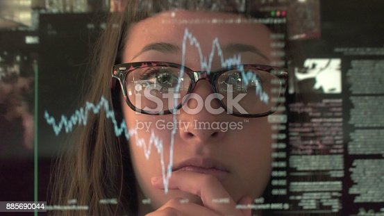 1190039622istockphoto Touch screen analysing commerce 885690044