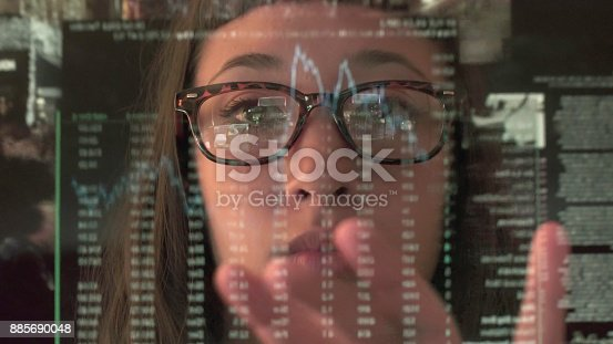 1190039622istockphoto Touch screen analysing commerce 885690048