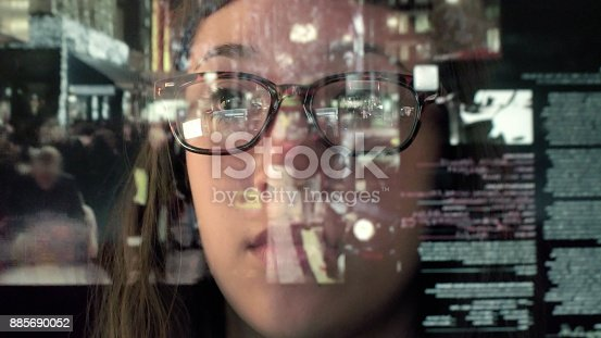 istock Touch screen analysing commerce 885690052