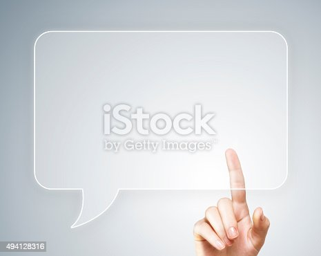 istock Touch screen bubble speach (Click for more) 494128316