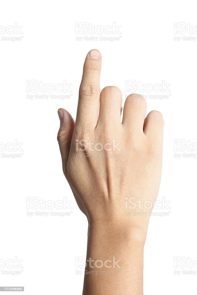 Touch Screen Finger stock photo
