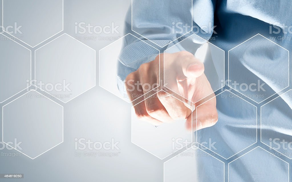 Touch screen honeycomb (Click for more) stock photo