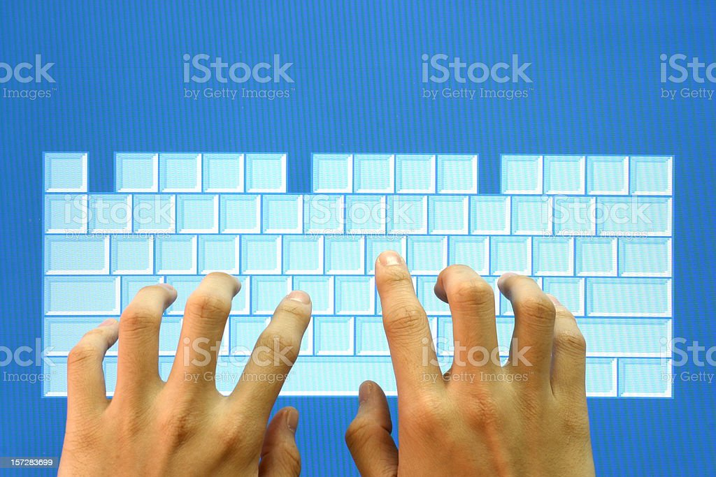 Touch Screen Keyboard royalty-free stock photo