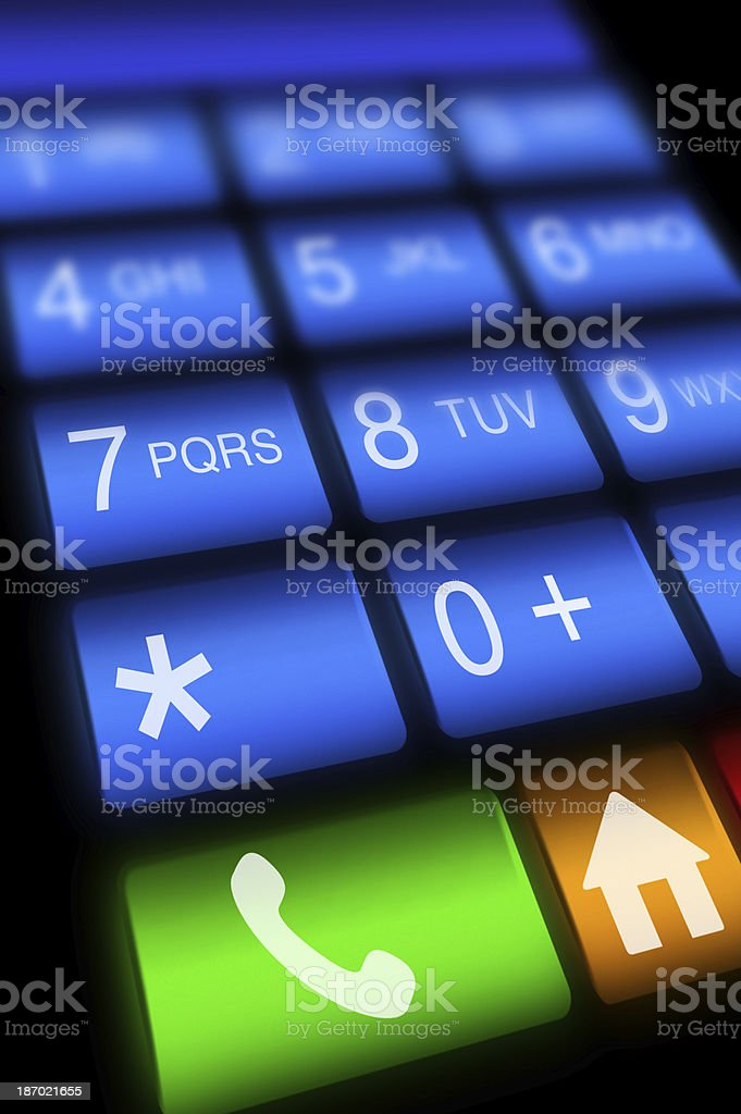 Touch Screen Keypad (Click for more) royalty-free stock photo