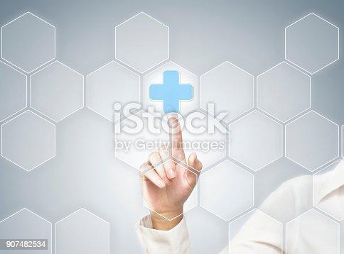 Touch screen medicine / Medicine concept (Click for more)