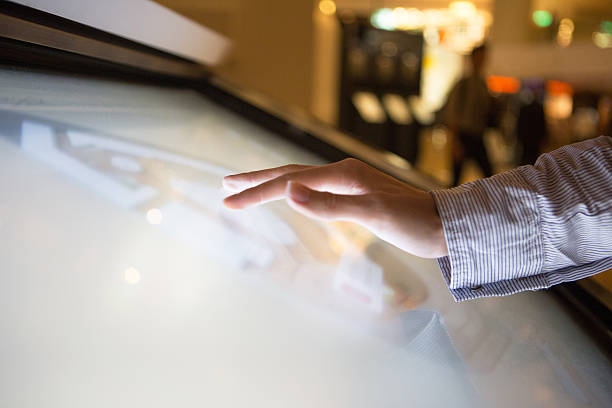 touch screen - interactivity stock photos and pictures