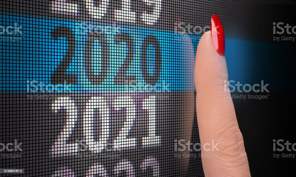 touch screen select 2020 stock photo