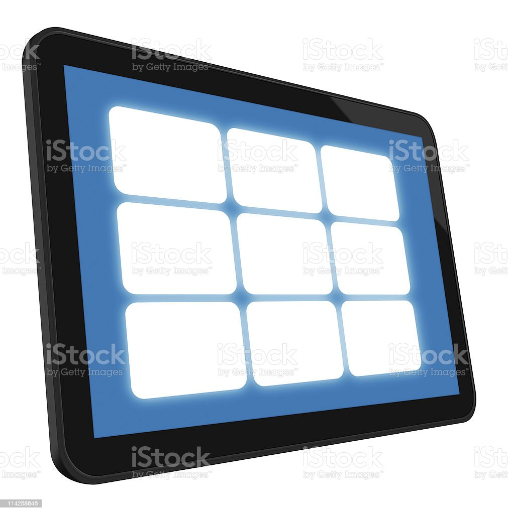 LCD Touch Screen Tablet royalty-free stock photo