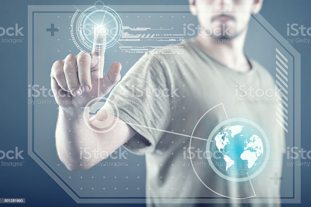 Touch screen technology stock photo