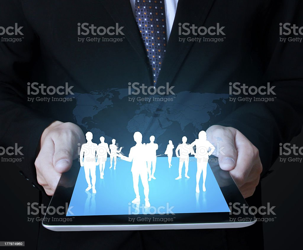 touch screen ,touch- tablet in hands royalty-free stock photo