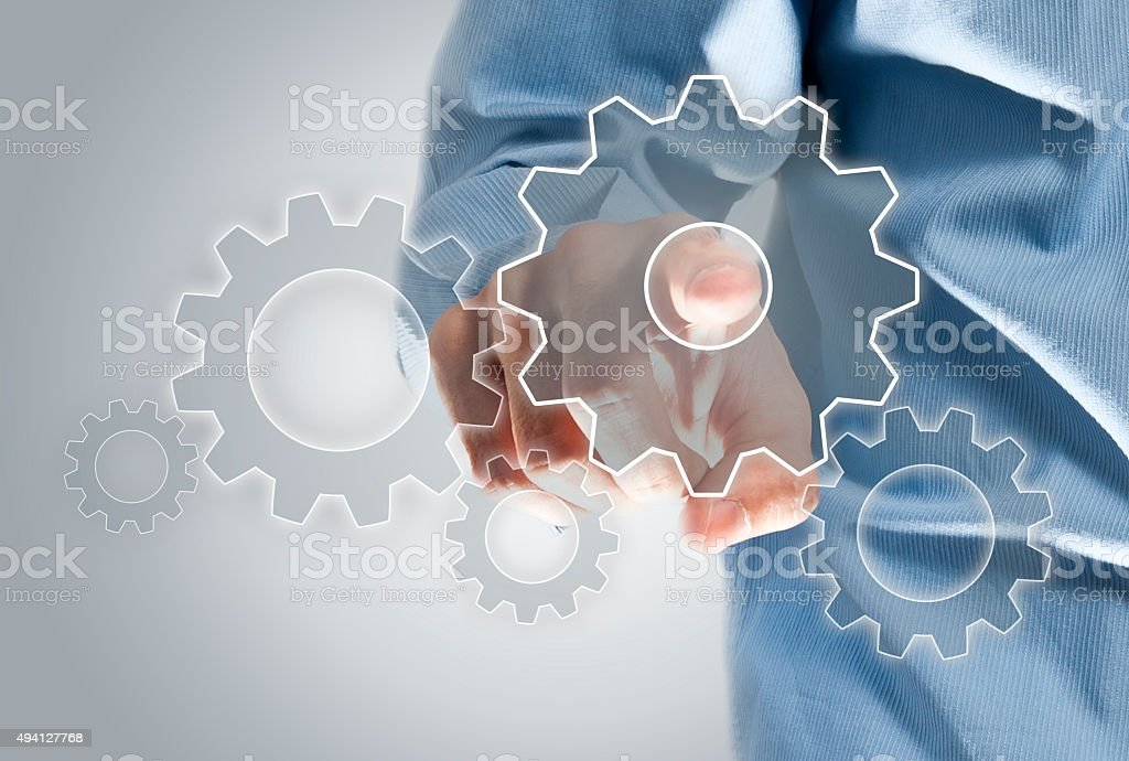 Touch screen wheels (Click for more) stock photo