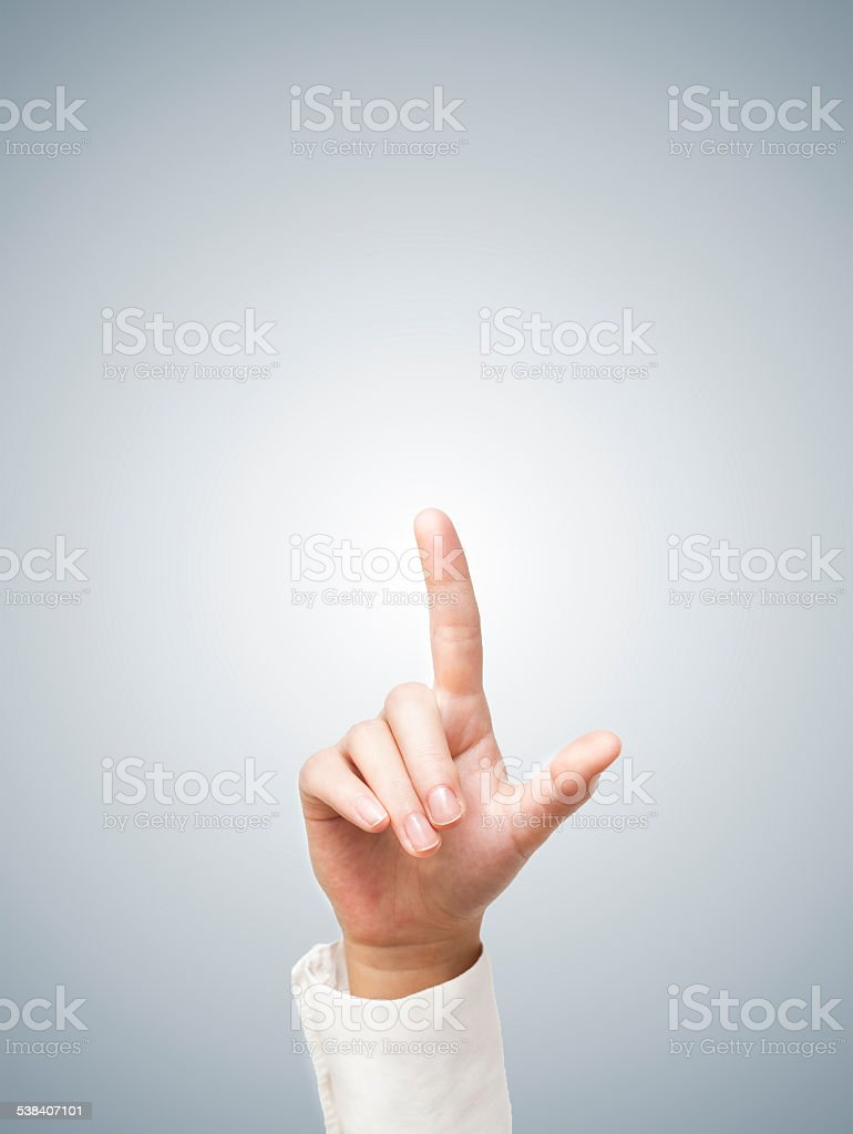 Touch / Showing empty (Click for more) stock photo