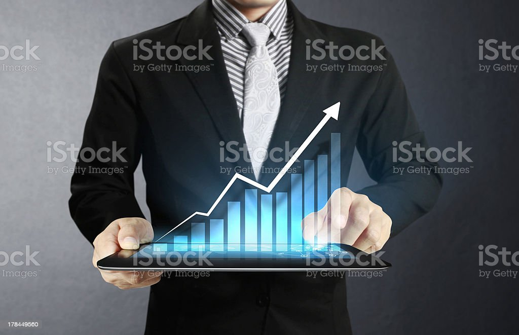 touch Tablet concept royalty-free stock photo