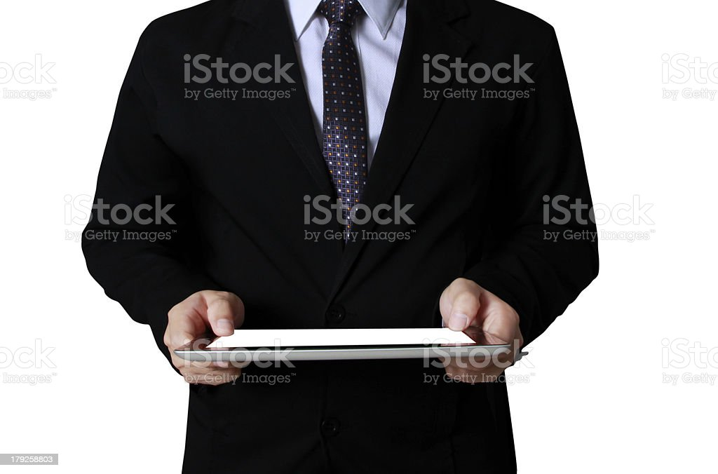 touch- tablet in hands Business man royalty-free stock photo