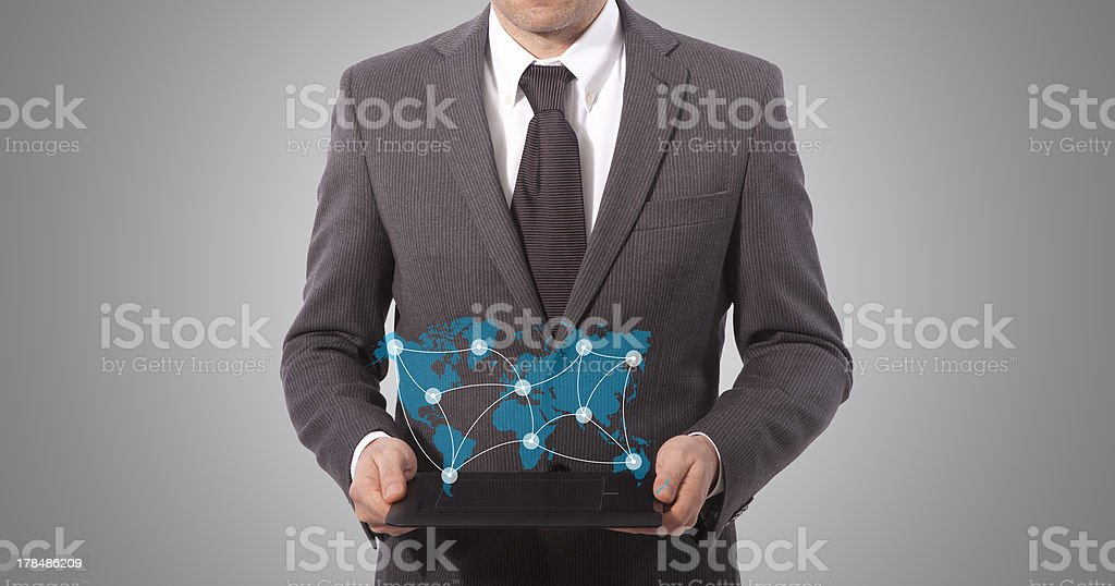 touch tablet in hands royalty-free stock photo