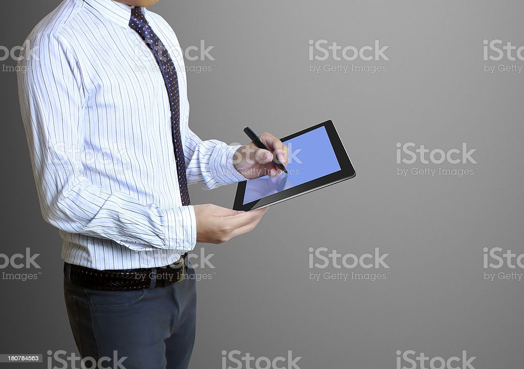 touch- tablet in hands royalty-free stock photo