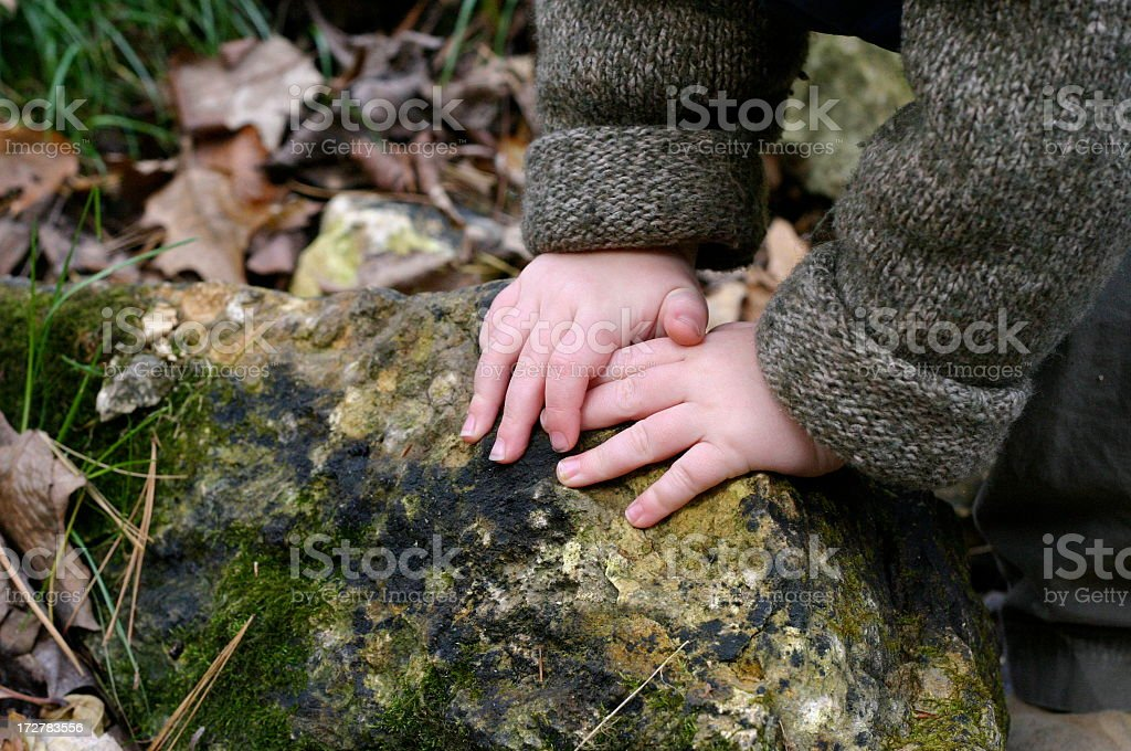 Touch the Earth royalty-free stock photo