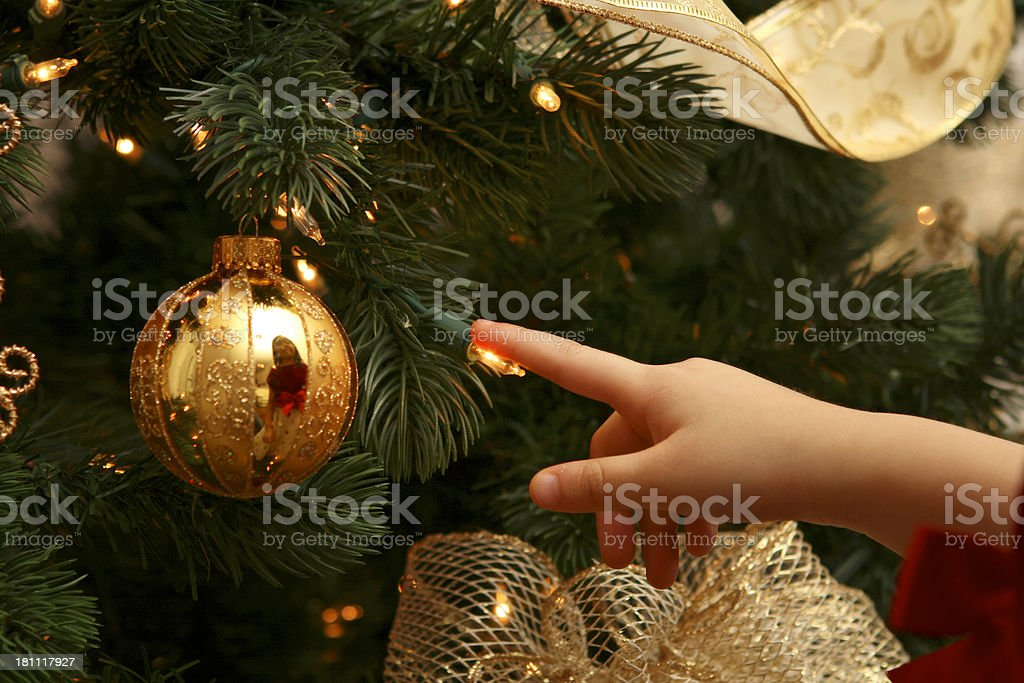 Touch the Light royalty-free stock photo