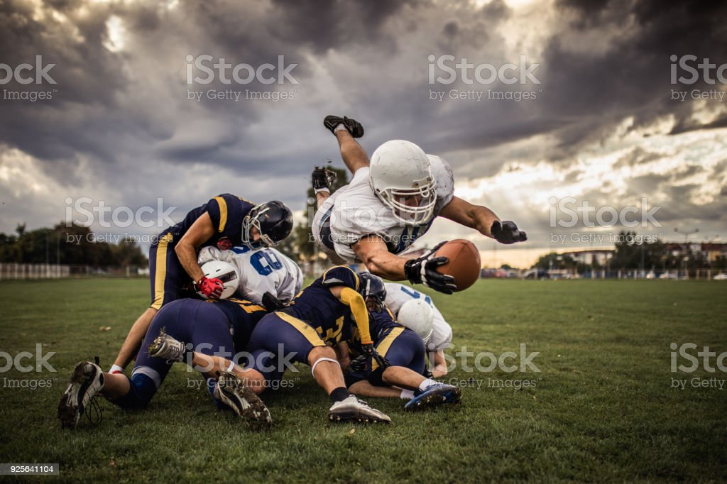 Touchdown! stock photo