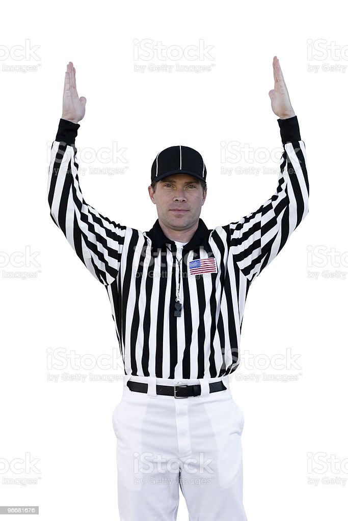 Touchdown Referee stock photo