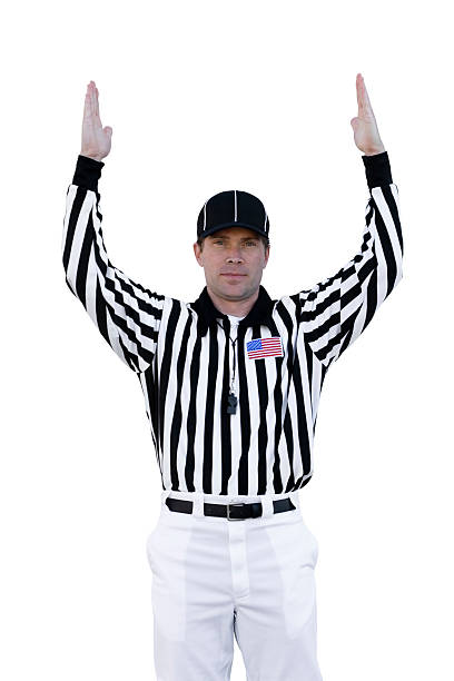 Touchdown Referee  referee stock pictures, royalty-free photos & images