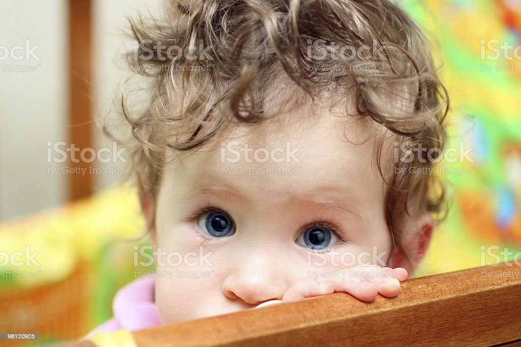 touching baby close-up royalty-free stock photo