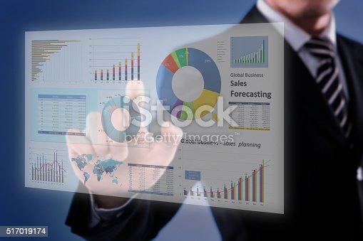 istock Touching Financial Dashboard 517019174
