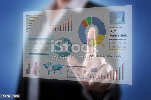 istock Touching Financial Dashboard 517019180