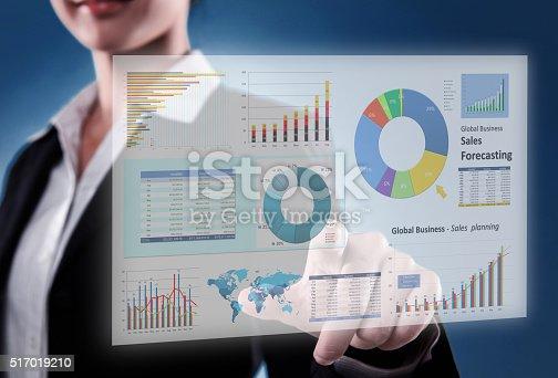 istock Touching Financial Dashboard 517019210