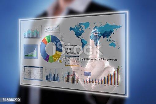 istock Touching Financial Dashboard 518550220