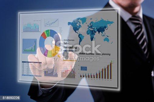 istock Touching Financial Dashboard 518550226