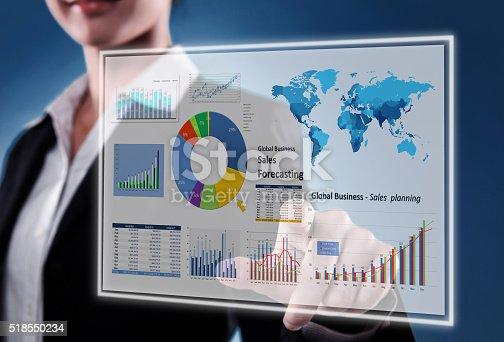 istock Touching Financial Dashboard 518550234