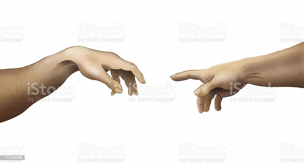 Touching Fingers royalty-free stock photo