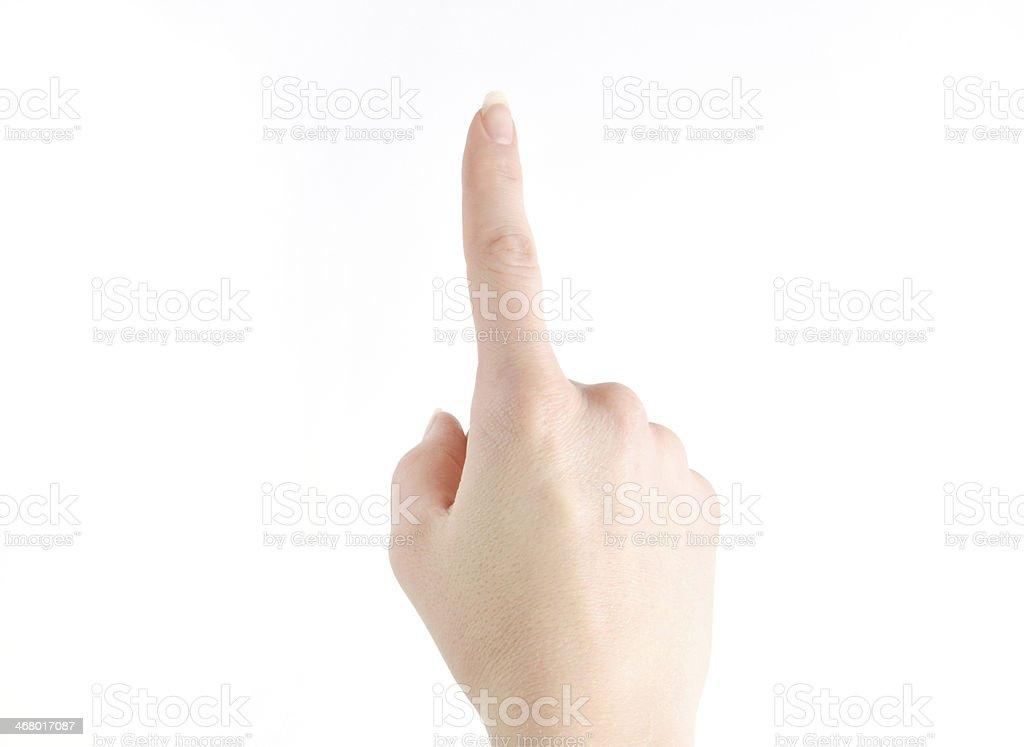 Touching hand stock photo