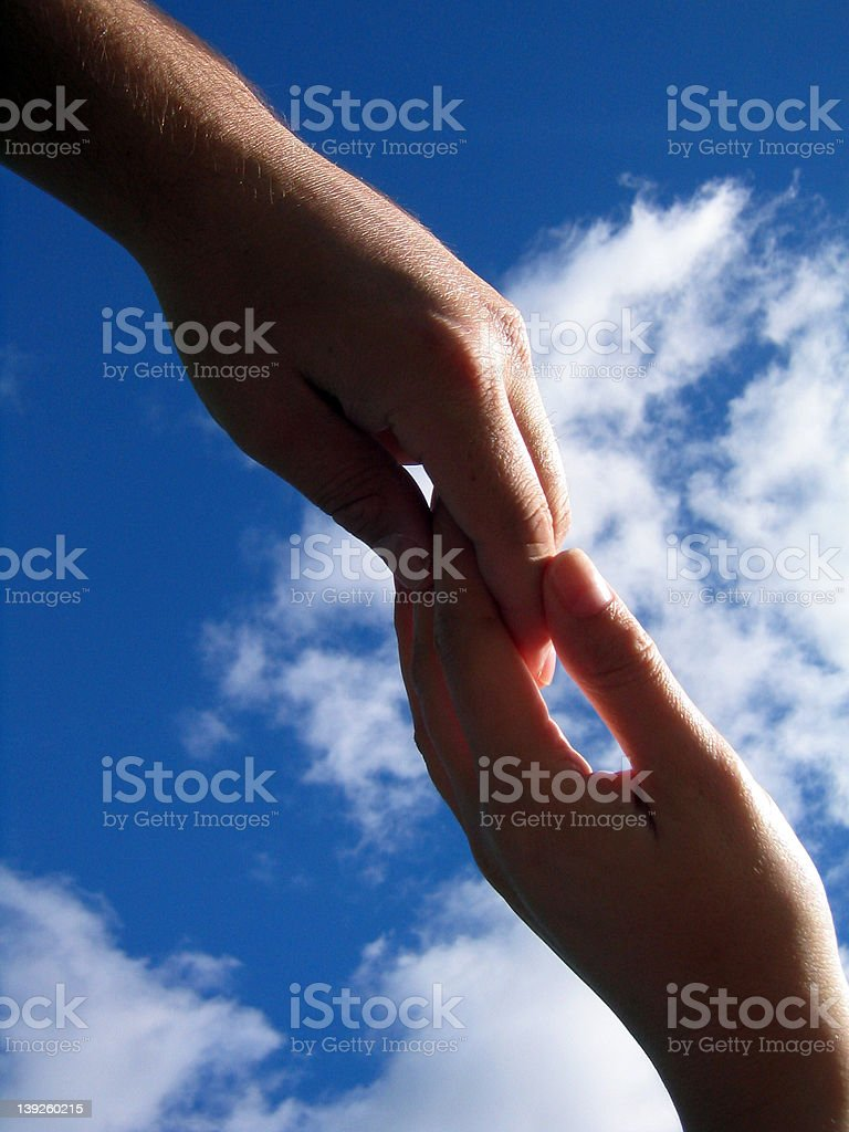Touching Hands royalty-free stock photo
