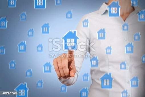 istock Touching House Insurance 482457410
