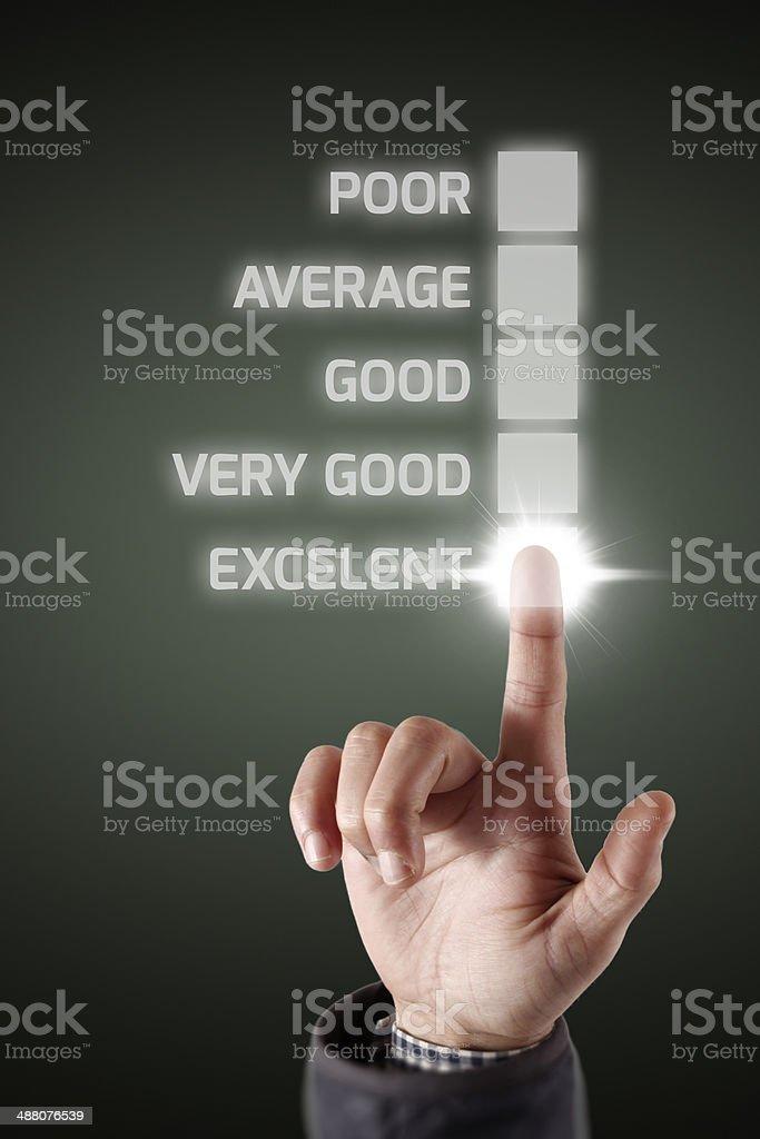 Touching Performance List stock photo