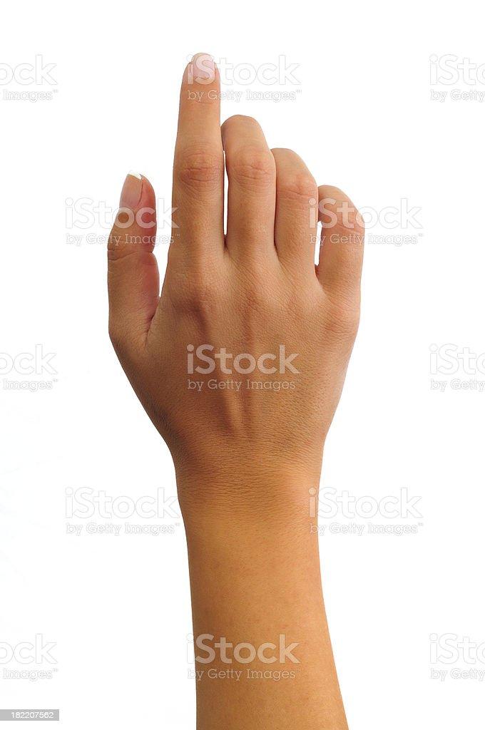 Touching stock photo