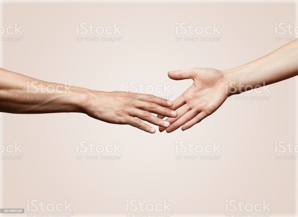 Touching. stock photo