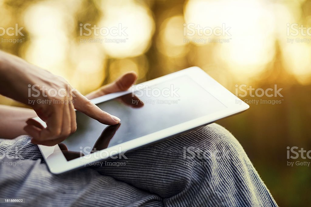 Touching Screen Tablet PC stock photo