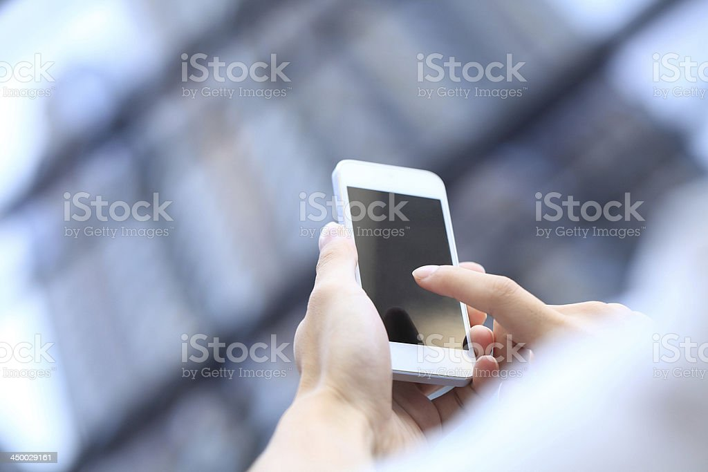 Touching Smart Phone royalty-free stock photo