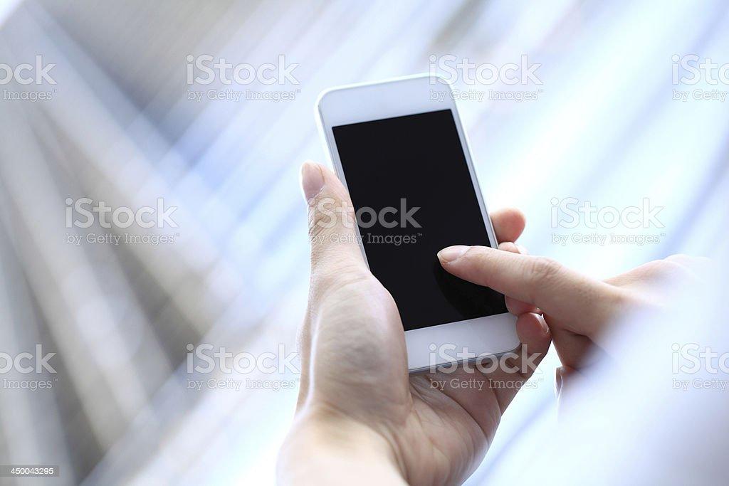 Touching Smart Phone royalty-free stock photo
